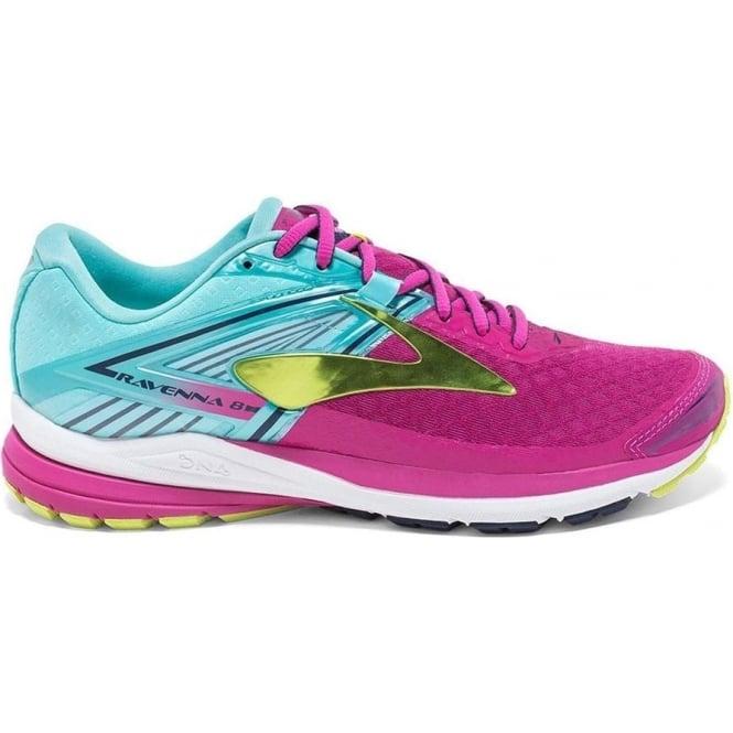 online store 8276b 9e0ef Brooks Ravenna 8 Womens B (STANDARD WIDTH) Road Running Shoes Very  Berry/Aqua Splash/Lime Punch