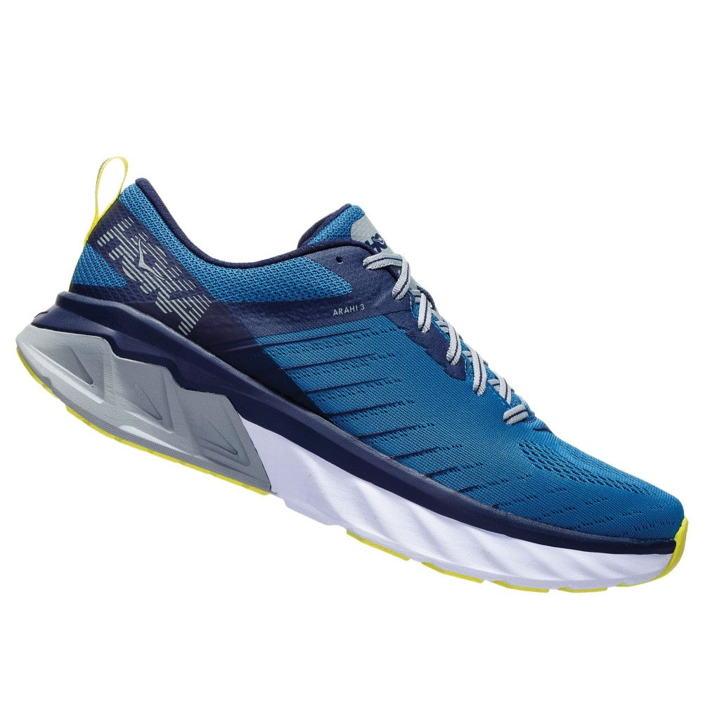 56e791a5d8d Arahi 3 WIDE Mens HIGH CUSHIONING Road Running Shoes with SUPPORT for  OVERPRONATION Blue Sapphire