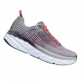 b12f349775e Bondi 6 Mens MAX CUSHIONING 4mm Drop Road Running Shoes Alloy Steel Gray