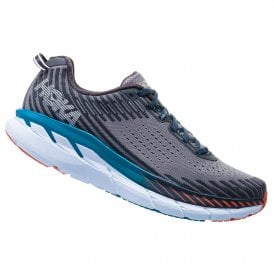 51ff1e4373bb9 Clifton 5 WIDE Mens LIGHTWEIGHT   HIGH CUSHIONING Road Running Shoes Frost  Gray Ebony