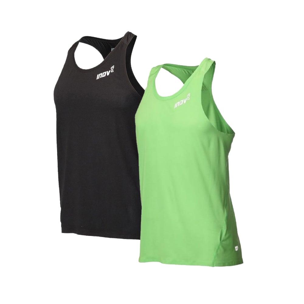 Inov8 AT//C Mens Green Sleeveless Running Sports Vest Tank Top Singlet