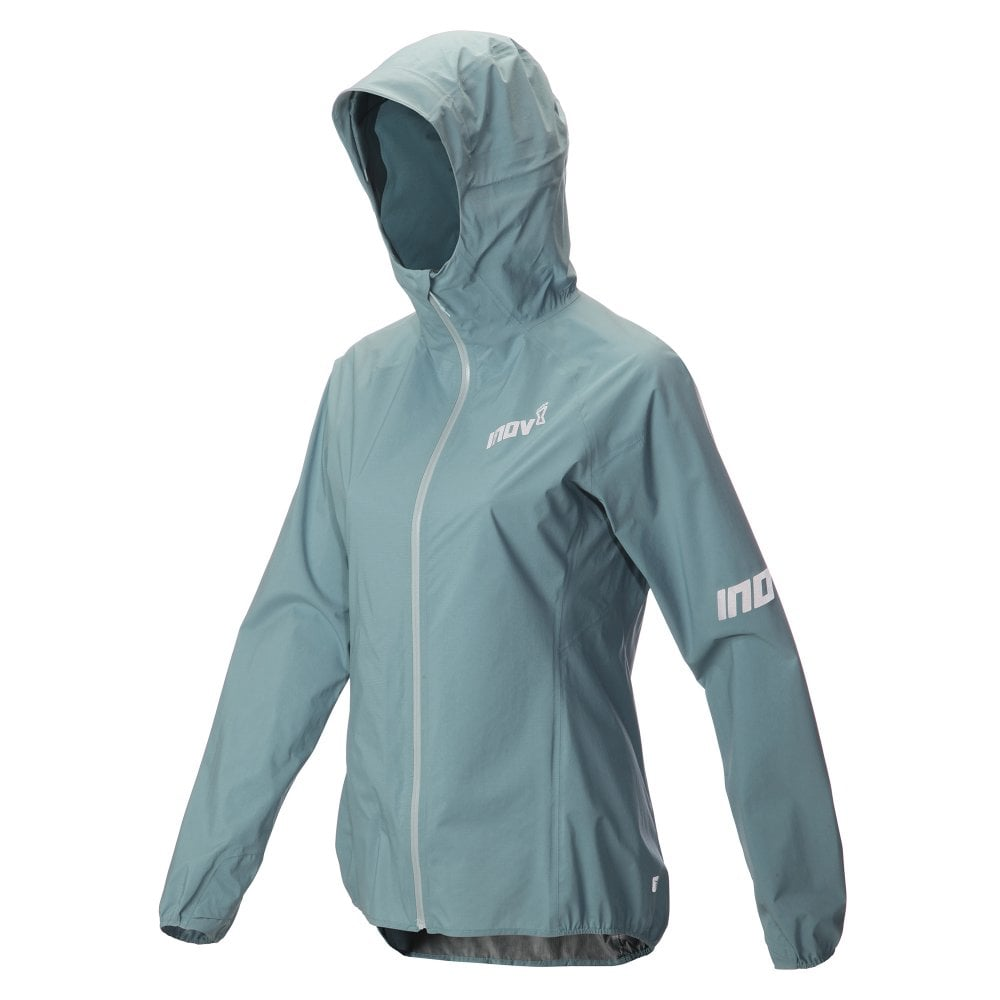 baeb172a9ef3 AT C Stormshell Full Zip Womens FULLY WATERPROOF Running Jacket Blue Grey