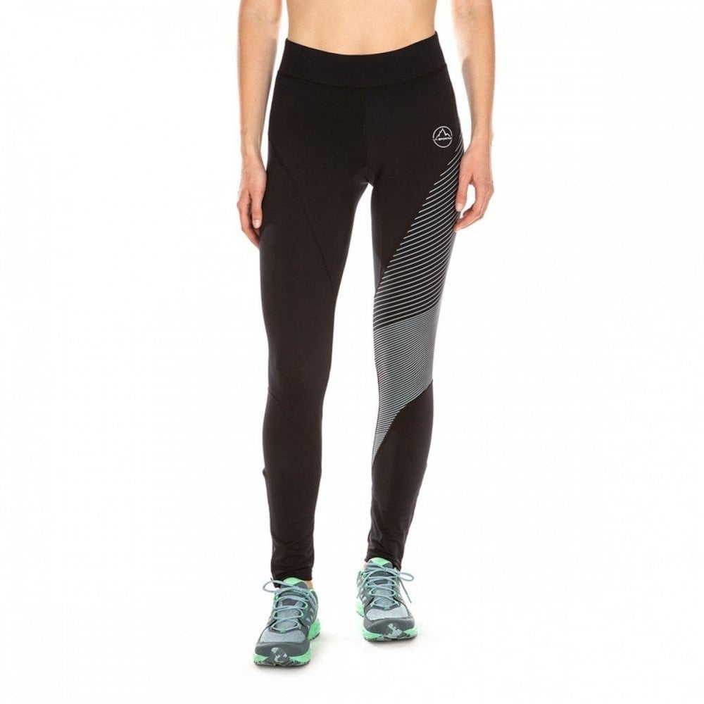 eba7b953d263c Supersonic Womens WINTER Trail Running Tights Black/Slate at ...