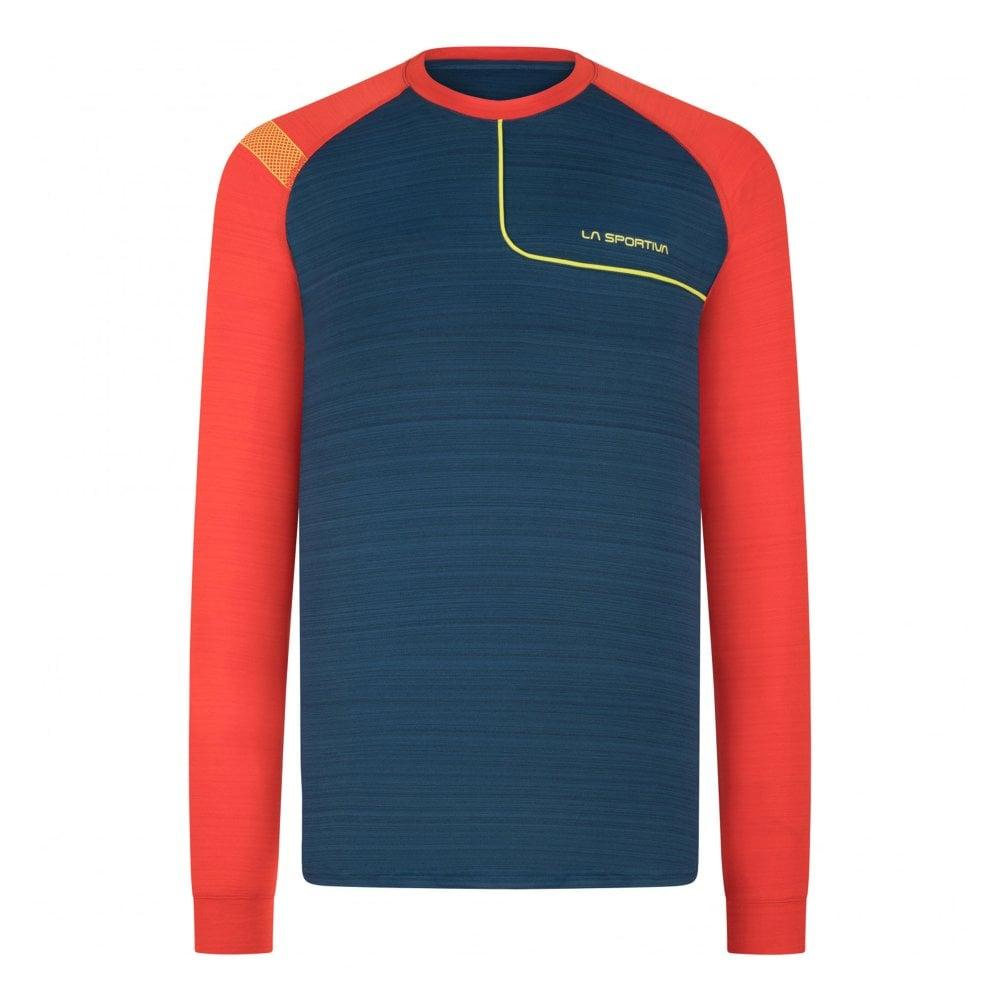 Blue Sports Running Breathable Inov8 Mens Base Elite Long Sleeved Top