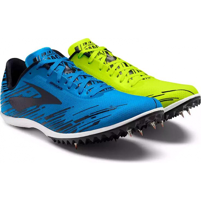 d58d9641cca Mach 18 Mens Cross Country Running Spikes Nightlife BrooksBriteBlue Black