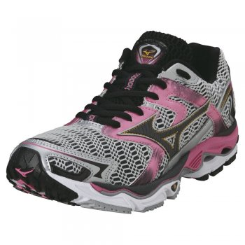 b4941bc9d8d02 Mizuno Wave Nirvana 8 Road Running Shoes White/Anthracite/Hot Pink Women's