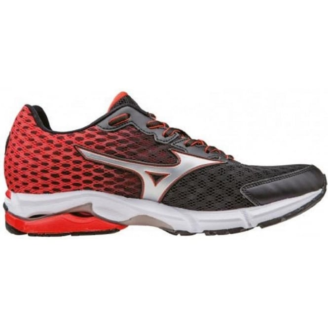 separation shoes 49d6e c5138 Mizuno Wave Rider 18 Road Running Shoes Black Mens