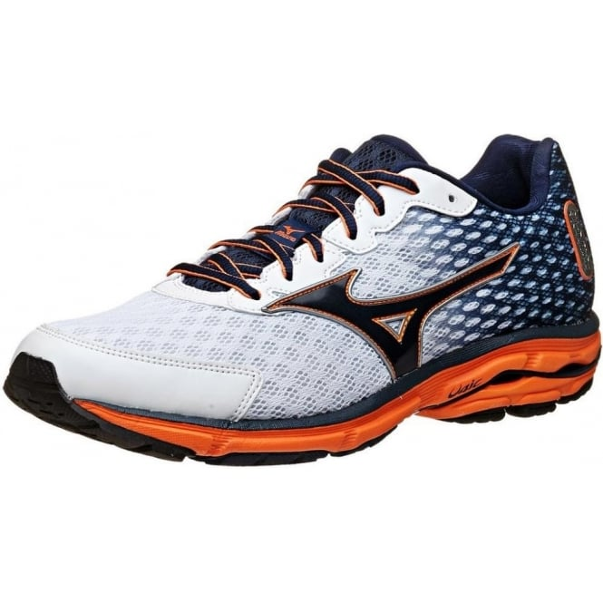 c89a4708a1a0 Mizuno Wave Rider 18 Mens Running Shoes in White/Blue at ...