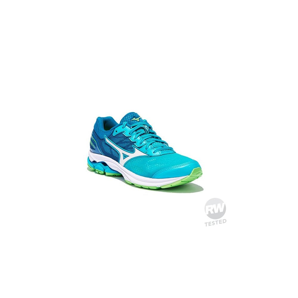 official photos 7928f 34a67 Mizuno Wave Rider 21 Road Running Shoes Green Womens