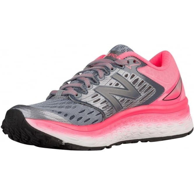 online store 47e7e bc4d0 1080 v6 Womens B STANDARD WIDTH Road Running Shoes Silver/Pink