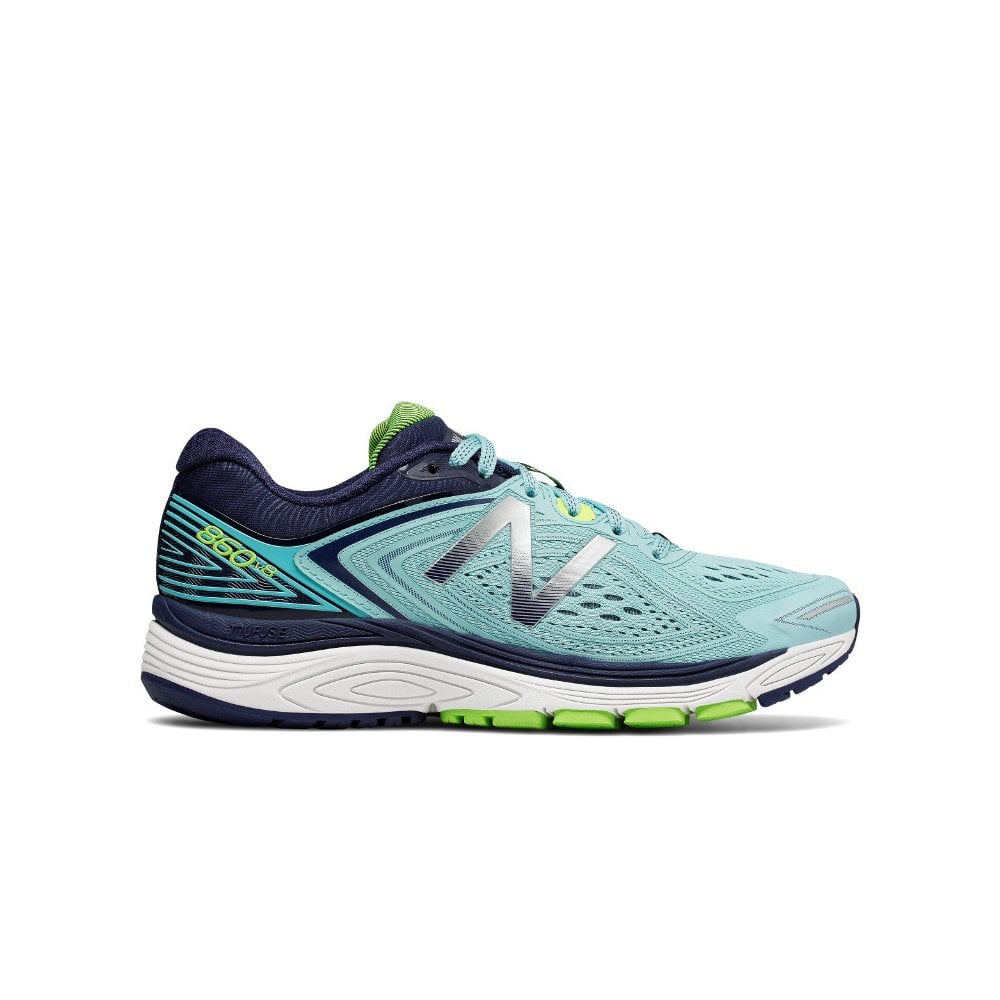 super popular 369f0 f8d35 860 v8 Womens B WIDTH (STANDARD) Road Running Shoes with SUPPORT for  Overpronation Blue