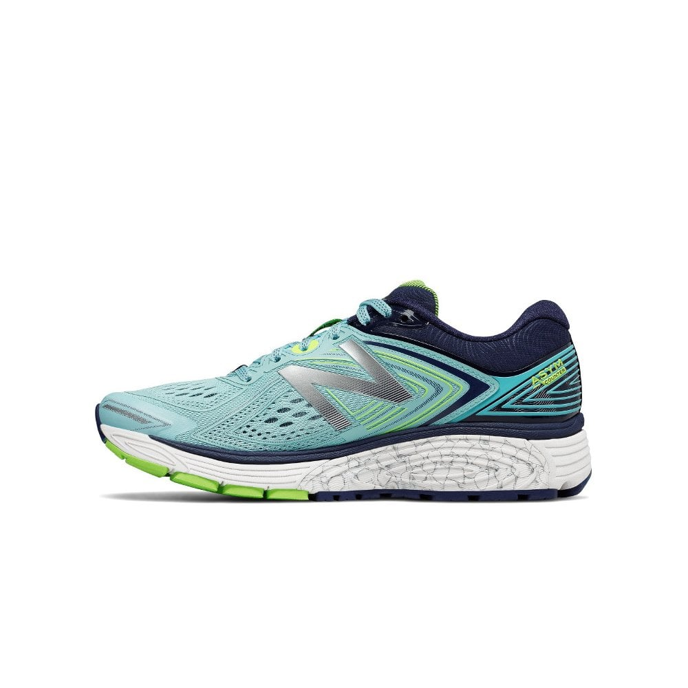860 v8 Womens B WIDTH (STANDARD) Road Running Shoes with SUPPORT for Overpronation Blue