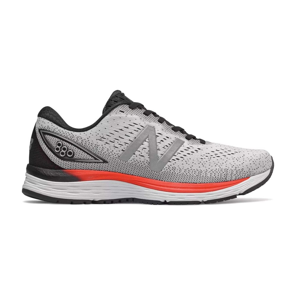 promo code 93477 35cb8 880 v9 Mens 2E Width (WIDE) HIGH CUSHIONING 10mm Drop Road Running Shoes  White
