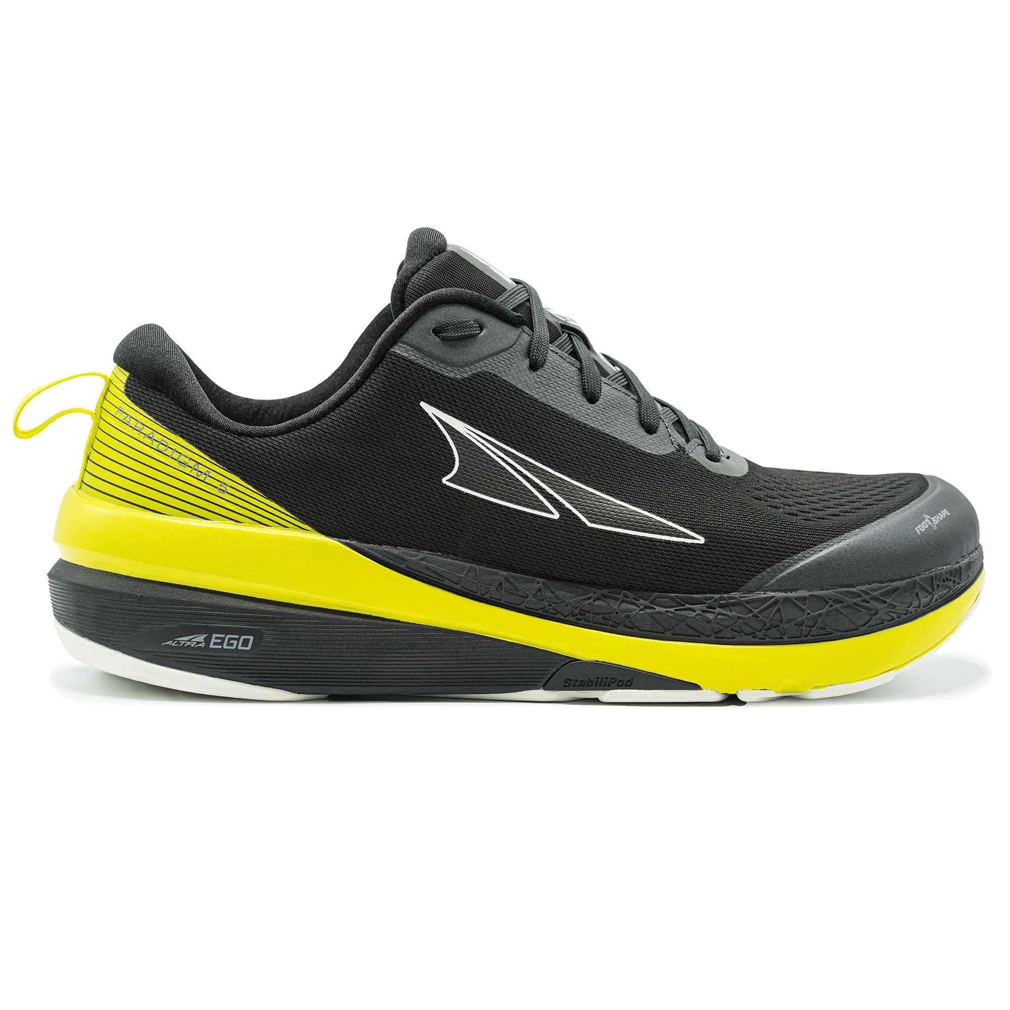 Paradigm 5 Mens Zero Drop Foot Shape Cushioned Road Running Shoes Black Lime At Northernrunner Com