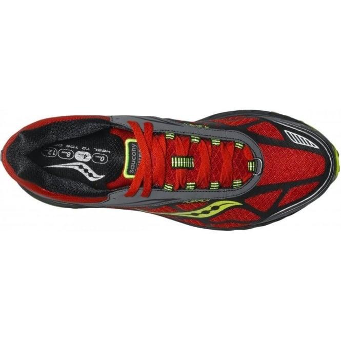 Saucony Peregrine 3 Minimalist Trail Running Shoes OrangeBlackCitron Mens
