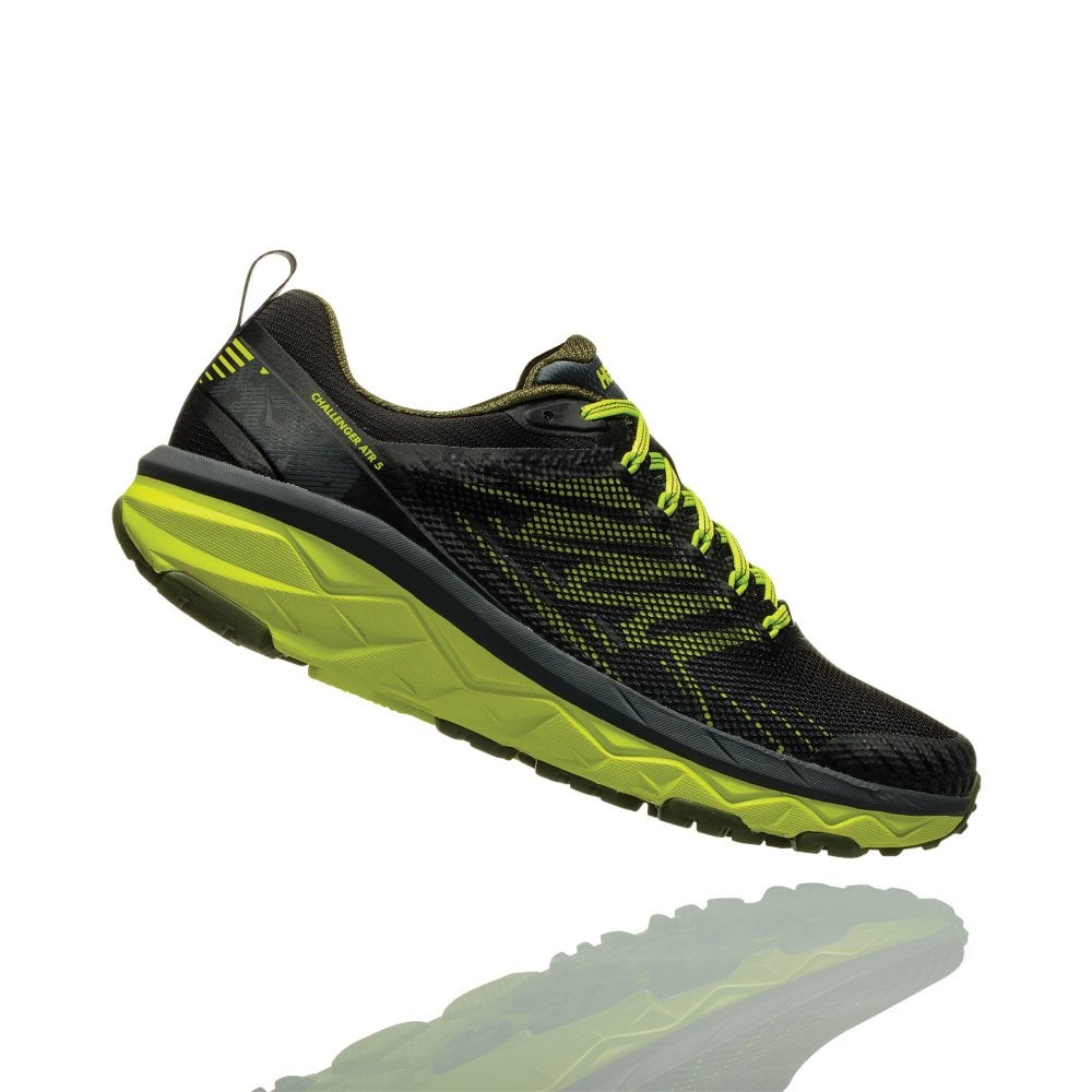 11545e70f93a Challenger ATR 5 Mens WIDE FIT CUSHIONED TRAIL Running Shoes Ebony Black