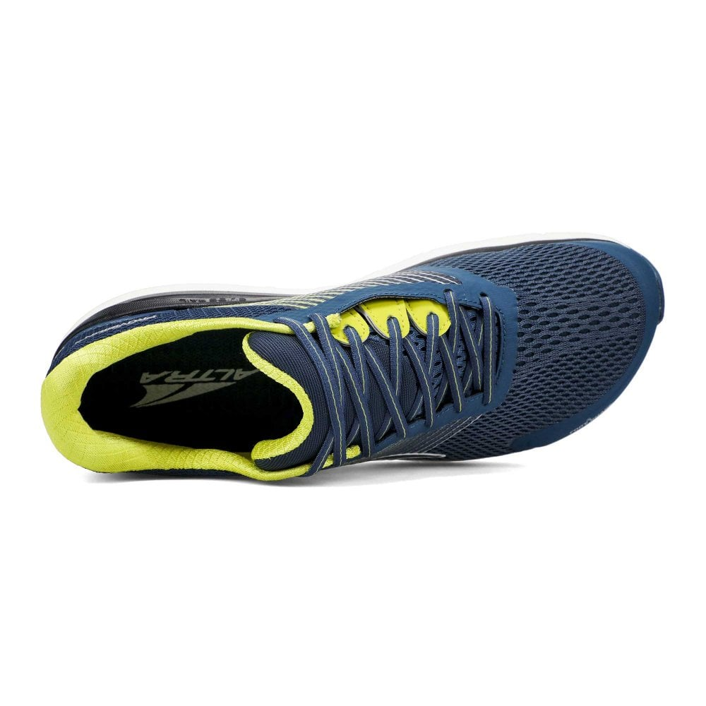 Provision 4 Mens Zero Drop Foot Shape Cushioned Support Road Running Shoes Blue Lime At Northernrunner Com