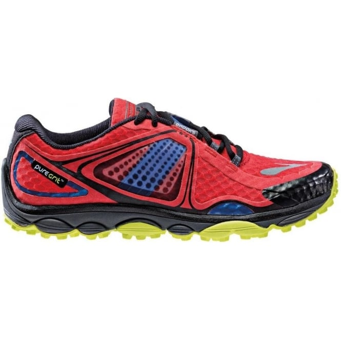 649a99194cfc4 Pure Grit 3 Trail Running Shoes HighRiskRed Electric LimePunch Mens ...