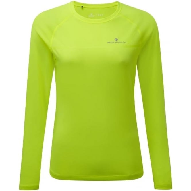 76c8d2ee2 Everyday Womens Long Sleeve Running T-shirt Fluorescent Yellow at ...