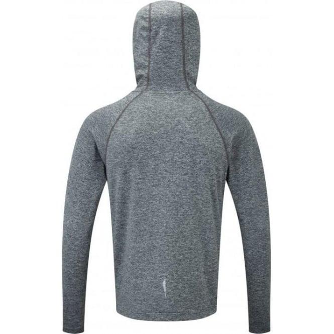 Ron Hill Momentum Victory Pullover Hoody Mens Grey//Blue Hoodie Top Sweatshirt