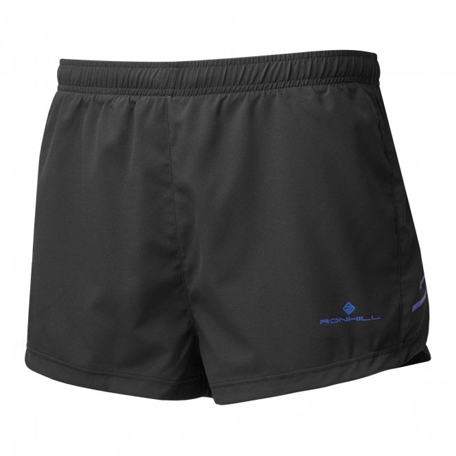 """Ronhill Mens Stride 5/"""" Breathable Running Shorts with Inner Brief Black//Azurite"""