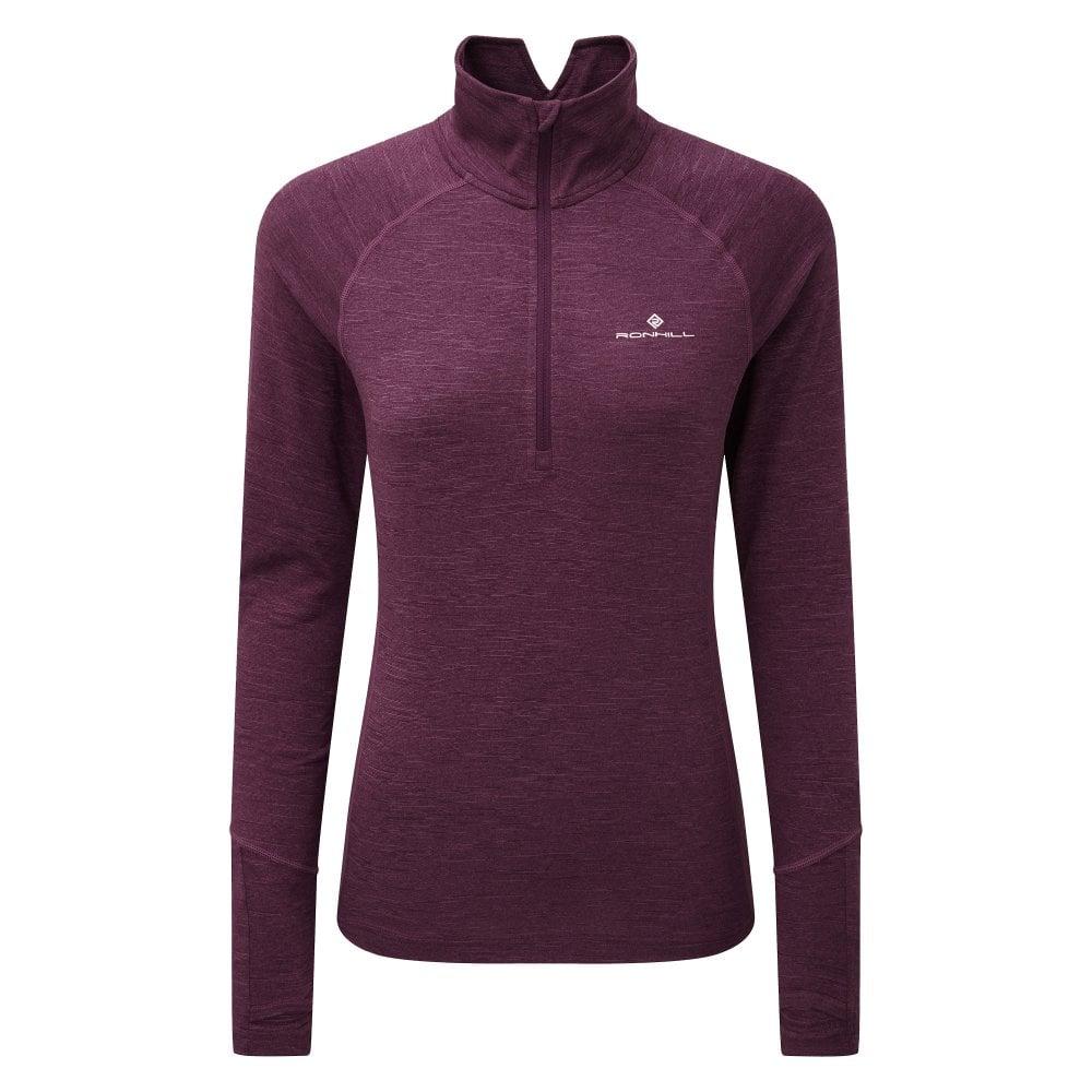 Blue Fitness, Running & Yoga Ronhill Stride Matrix Half Zip Long Sleeve Mens Running Top Shirts