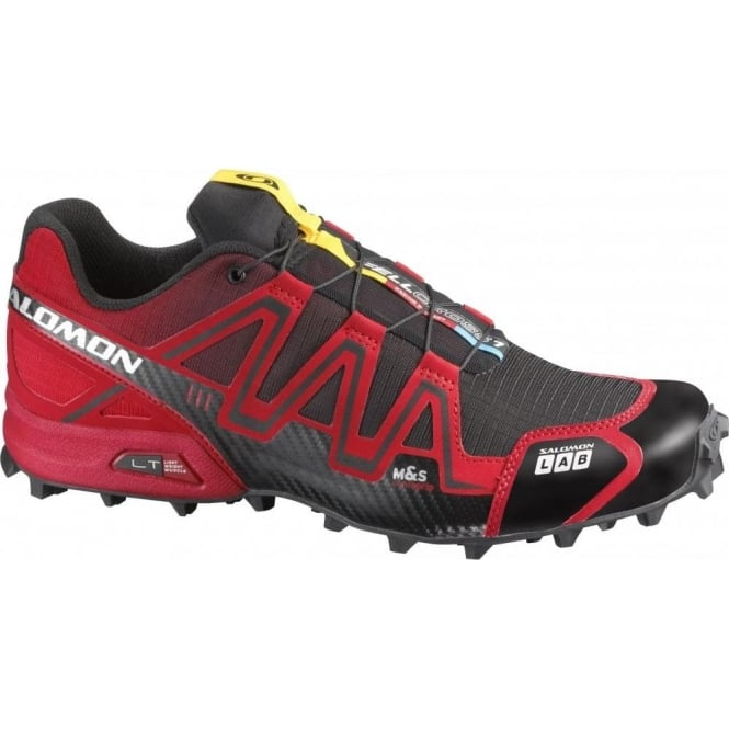 sneakers for cheap 1ca30 21ee5 S-Lab Fellcross Fell Running Shoes Red Black Mens