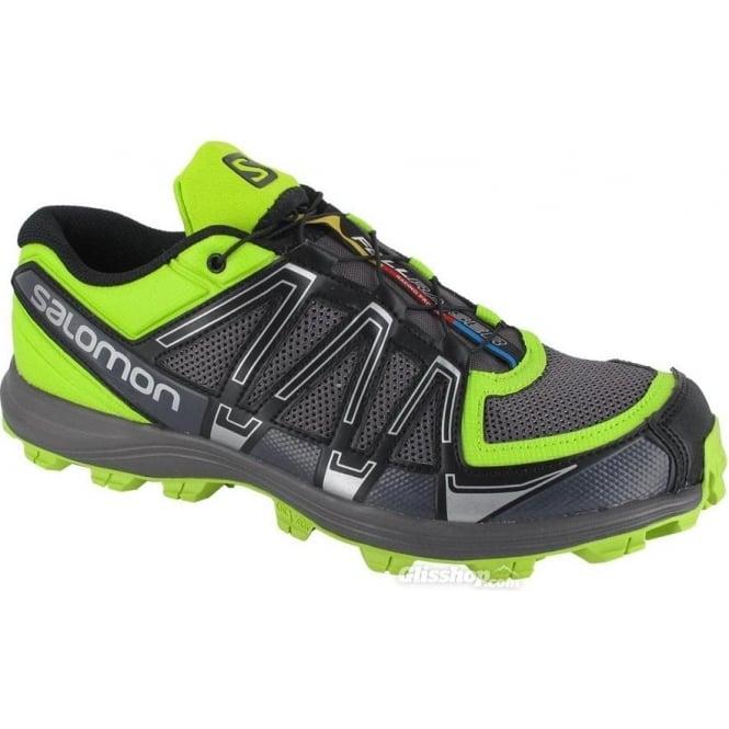 Fellraiser Fell Running Shoes Black Autobahn PopGreen Mens 8956ef357a