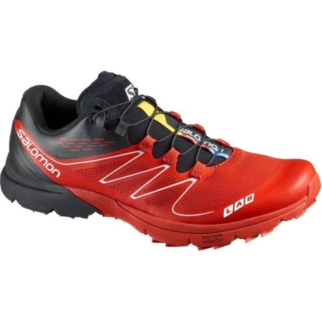 low priced 11cc8 b5467 S-Lab Sense Ultra Off Road Running Shoes Red Black White