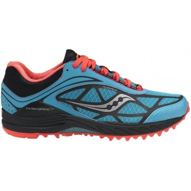 huge discount 79785 35ea3 Saucony Peregrine 3 Minimalist Trail Running Shoes Teal/Black/Coral Women's