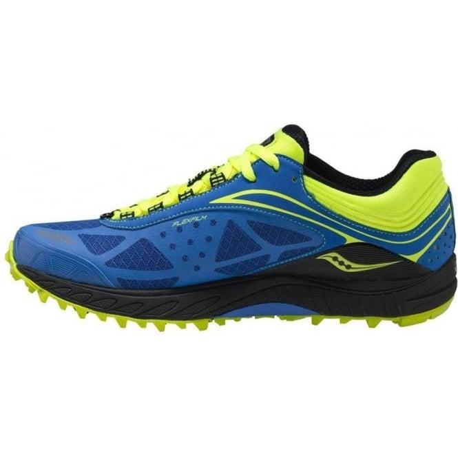 Saucony ProGrid Peregrine 3 Minimalist Trail Running Shoes BlueCitron Mens