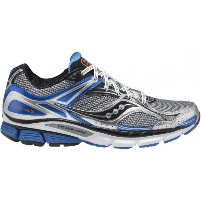 56b99c3c Saucony Stabil CS3 Running Shoes Silver/Black/Blue Mens