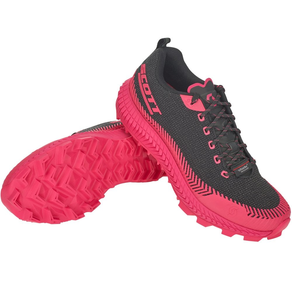 dafe79c4f4f Supertrac Ultra RC Womens CUSHIONED OFF-ROAD Running Shoes Black Pink