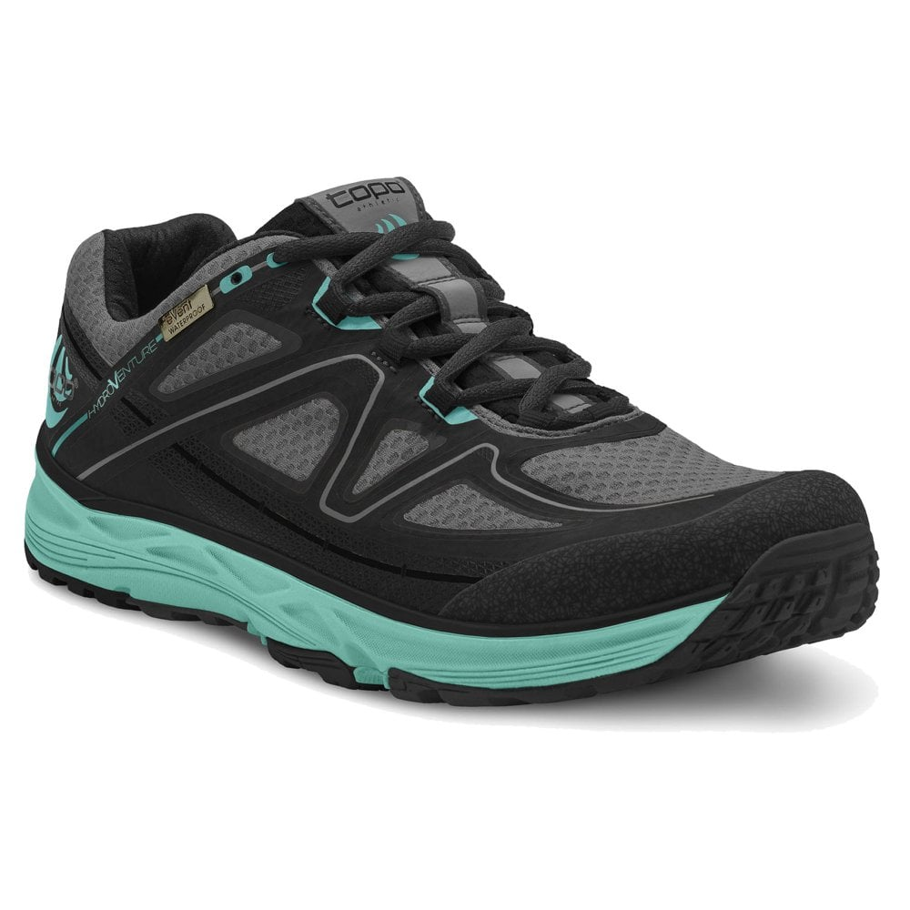 the best attitude a6829 df99f Hydroventure Womens LIGHTWEIGHT & WATERPROOF Trail Running Shoes  Black/Turquoise