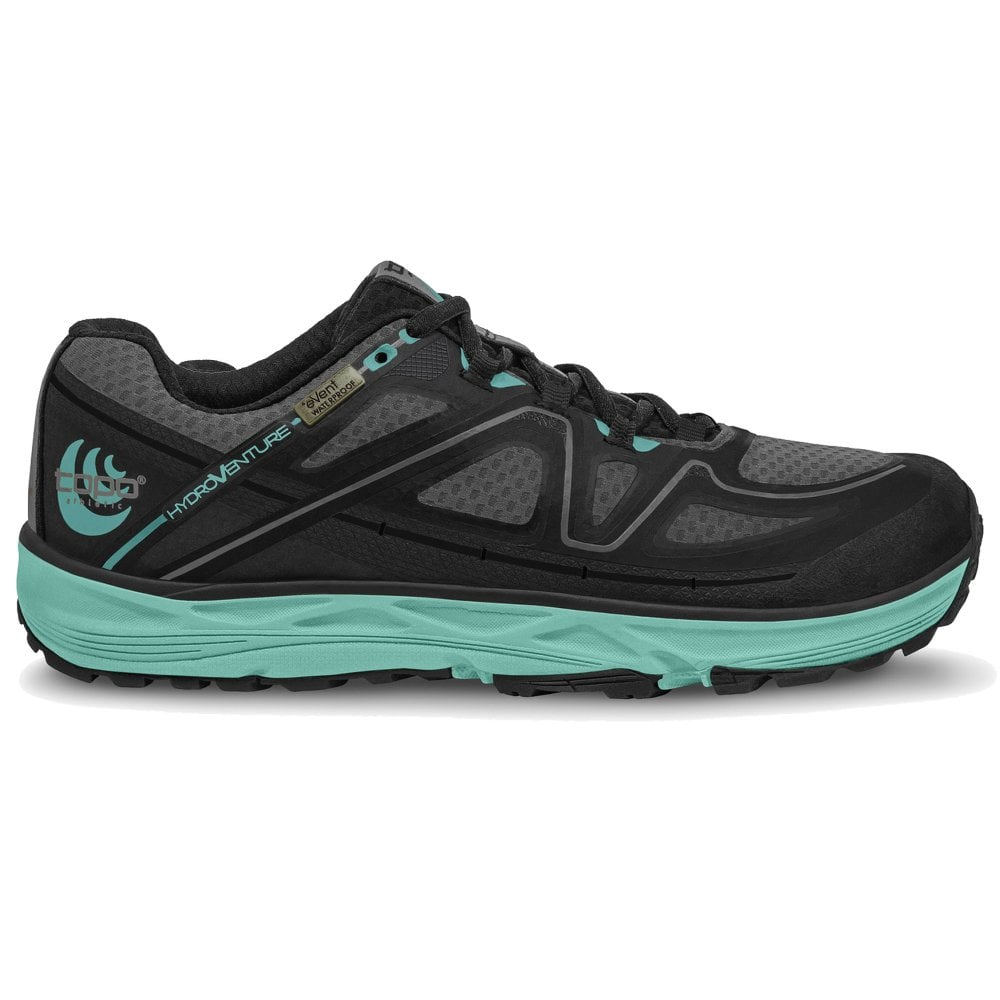 b218f0dcd72 Hydroventure Womens LIGHTWEIGHT  amp  WATERPROOF Trail Running Shoes  Black Turquoise