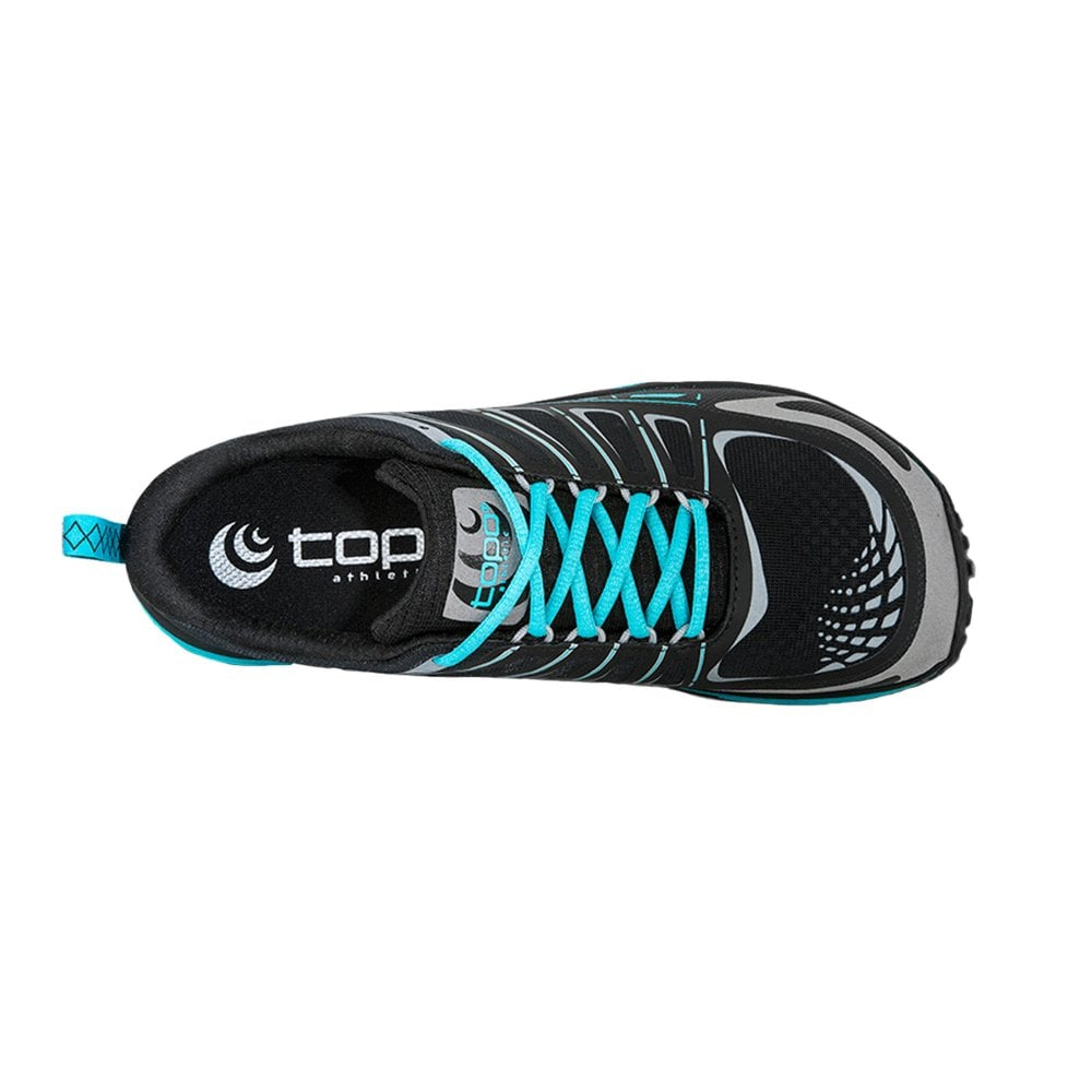 Runventure Womens 0mm Zero Drop Wide Toe Box Road Running Shoes Black Dark Turqoise At Northernrunner Com